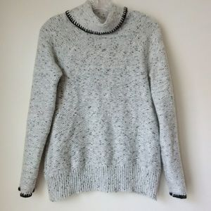 Cable & Gauge cowl neck sweater